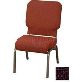 """Kfi Church Stacking Chair, 3"""" Front Roll Seat, Amethyst Fabric/Silver Vein Frame"""