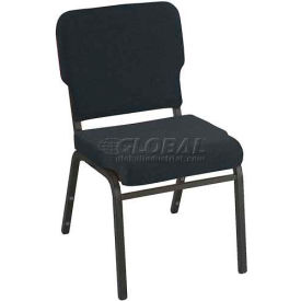 Kfi Heavy Duty Wing Back Stacking Chair, Gray Fabric/Black Frame