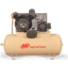 Ingersoll Rand 7100E15-V, 15HP, Two-Stage Compressor, 120 Gal, Horiz., 175 PSI, 50 CFM, 3-Phase 460V