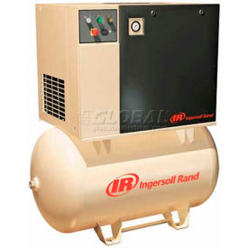 Ingersoll Rand Rotary Screw Air Compressor UP67-210230/1120, 230V, 7.5HP, 1PH, 120 Gal