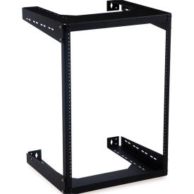 "Kendall Howard™ 15U Open Frame Wall Rack - 18"" Depth"