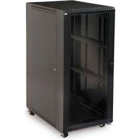 "Kendall Howard™ 27U LINIER® Server Cabinet - Glass/Vented Doors - 36"" Depth"