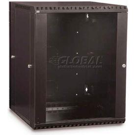 Kendall Howard™ 15U Swing Out Wall Mount Cabinet - Glass Door