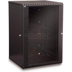 Kendall Howard™ 18U Fixed Wall Mount Cabinet - Glass Door