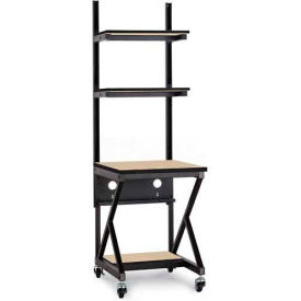 "Kendall Howard™ 24"" Performance 100 Series LAN Station with Half Bottom Shelf, Hard Rock Maple"