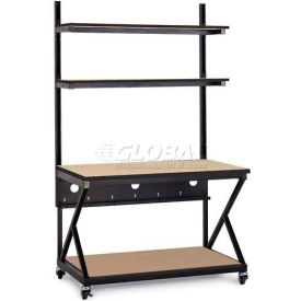 "Kendall Howard™ 48"" Performance 200 Series LAN Station with Full Bottom Shelf, Hard Rock Maple"