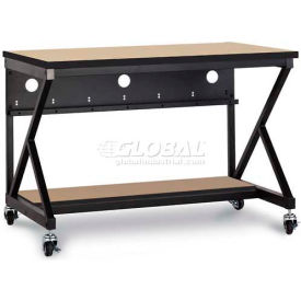 "Kendall Howard™ 48"" Performance 400 Series LAN Station with Half Bottom Shelf, Hard Rock Maple"