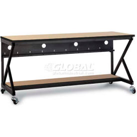 "Kendall Howard™ 72"" Performance 400 Series LAN Station with Half Bottom Shelf, Hard Rock Maple"