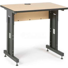 "Kendall Howard™ Classroom Training Table - Adjustable Height - 24"" x 36"" - Hard Rock Maple"