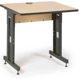"Kendall Howard™ Classroom Training Table - Adjustable Height - 30"" x 36"" - Hard Rock Maple"