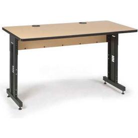 "Kendall Howard™ Classroom Training Table - Adjustable Height - 30"" x 72"" - Hard Rock Maple"