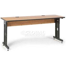 "Kendall Howard™ Classroom Training Table - Adjustable Height - 24"" x 72"" - Caramel Apple"