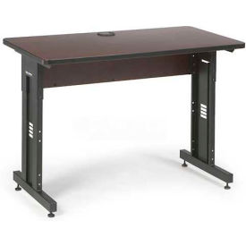 "Kendall Howard™ Classroom Training Table - Adjustable Height - 24"" x 48"" - African Mahogany"