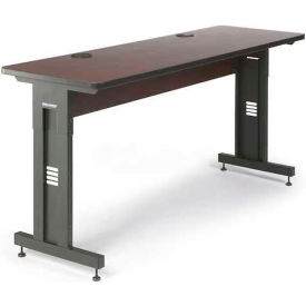 "Kendall Howard™ Classroom Training Table - Adjustable Height - 24"" x 72"" - African Mahogany"
