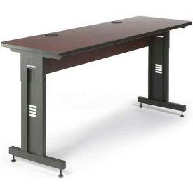 "Kendall Howard™ Classroom Training Table - Adjustable Height - 24"" x 72"" - African Mahogany"
