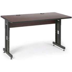 "Kendall Howard™ Classroom Training Table - Adjustable Height - 30"" x 60"" - African Mahogany"