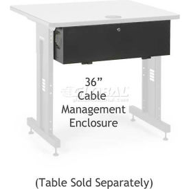 """Kendall Howard™Cable Management Enclosure for 36"""" Classroom Training Table"""