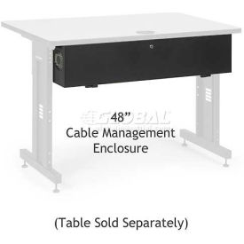 "Kendall Howard™Cable Management Enclosure for 48"" Classroom Training Table"