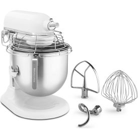 KitchenAid KSMC895WH - Commercial 8 Qt. Stand Mixer With Bowl Guard, White, NSF
