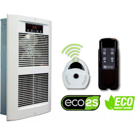 King Electric Forced Air Wall Heater LPW2445-ECO-WD-R with Remote, White 240V 4500W