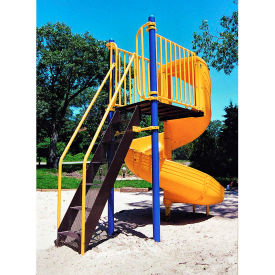 Freestanding Slide In Yellow/Blue/Black Combination, For Ages 5 To 12