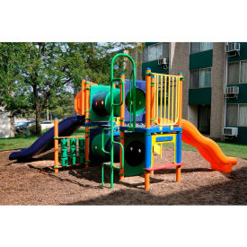 Playsystem W/Interactive Panels In Orange/Purple/Green/Yellow/Blue/Red Combination,  Ages 5 To 12