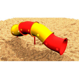 Up And Down Crawl Tunnel - Freestanding In Yellow And Red Combination, For Ages 2-12