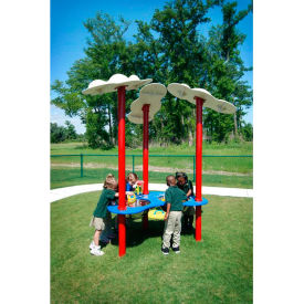 Sand And Water Table W/Clouds In Red/White/Blue Combination, For Ages 2-5
