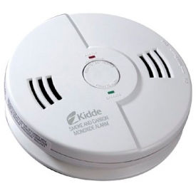 Combination Carbon Monoxide & Smoke Alarms, Kidde 21006377 - Pkg Qty 6