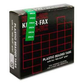 """Kleer-Fax® 1/5 Cut Hanging Folder Tabs, 2"""" Width, Green, 25 Tabs/Pack"""