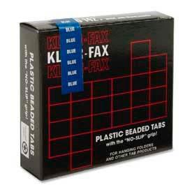 """Kleer-Fax® 1/5 Cut Hanging Folder Tabs, 2"""" Width, Blue, 25 Tabs/Pack"""