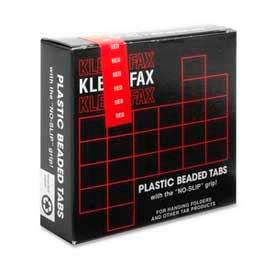 """Kleer-Fax® 1/5 Cut Hanging Folder Tabs, 2"""" Width, Red, 25 Tabs/Pack"""