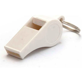 Kemp Plastic Pea Whistle, White, 10-423-WHI