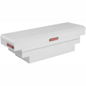 Weather Guard Saddle Truck Box, White Steel Compact Deep 8.9 Cu. Ft. - 136-3-01