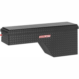 Weather Guard Pork Chop Truck Box, Black Aluminum Passenger Side Full Size 3.4 Cu. Ft. Cap. 173-5-01