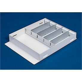 "Weather Guard Accessory Divider Tray 19-1/4""L x 14""W x 3""H, Steel White - 613-3"
