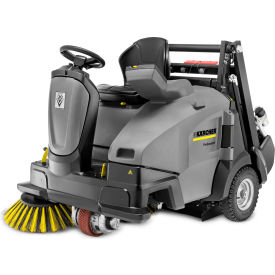 "Karcher Ride-On Floor Sweeper, 45"" Cleaning Path, KM 105/110 R Bp, 2RSB Wet 295 Ah Batteries"