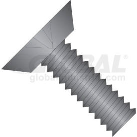 0-80 x 3/32 Phillips Flat Undercut Machine Screw Fully Threaded 18-8 SS - Black Ox - Pkg of 5000