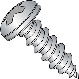 #3 x 1/4 Phillips Pan Self Tapping Screw Type AB Fully Threaded 18-8 Stainless Steel - Pkg of 5000