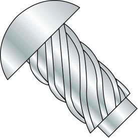#4 x 1/2 Round Head Type U Drive Screw - Zinc Bake - Pkg of 10000