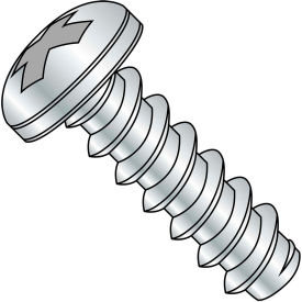 #4 x 3/4 Phillips Pan Self Tapping Screw Type B Fully Threaded Zinc Bake Package of 10000 by