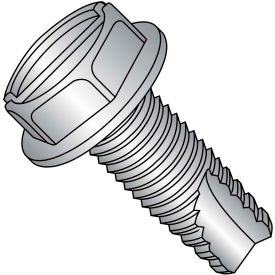 6-32X3/8  Slotted Indented Hexwasher Thread Cutting Screw Type23 Fully Thrd 18 8 Stainless,5000 pcs