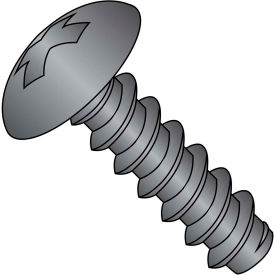 #6 x 3/8 Phillips Full Contour Truss Self Tapping Screw Type B FT Black Oxide Package of 10000 by