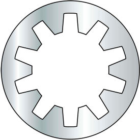 #6 Internal Tooth Lock Washer - Zinc - Pkg of 10000