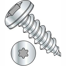 #8 x 3/4 6 Lobe Pan Self Tapping Screw Type A Fully Threaded Zinc Bake Package of 8000 by