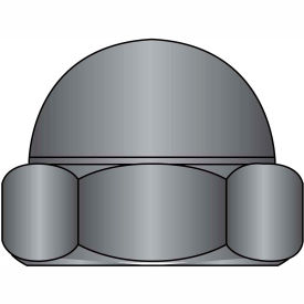 8-32 Two Piece Low Crown Cap Nut Black Zinc, Package of 2000 by