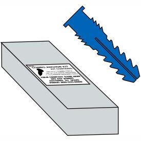 6-8  Ribbed Plastic Anchor Kit, Pkg of 10