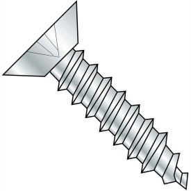 #10 x 3/8 Phillips Flat Undercut Self Tapping Screw Type AB Full Thread Zinc Bake Package of 10000 by