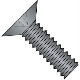 10-24X3/8  Phillips Flat 100 Degree Machine Screw Full Thrd 18 8 Stainless Steel Black, Pkg of 2000