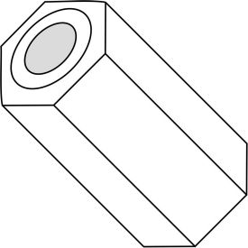 .091x1/2 Three Sixteenths Hex Spacer Nylon, Pkg of 1000